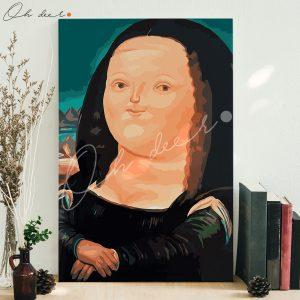Tranh tô màu theo số – Mona Lisa ú TCK0035